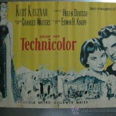 Cine: LILI .LESLIE CARON, MEL FERRER,ZSA ZSA GABOR.1954.LITOGRAFIA.1/ 2 CARTEL O 1/3 DE CARTEL.. Lote 32459563