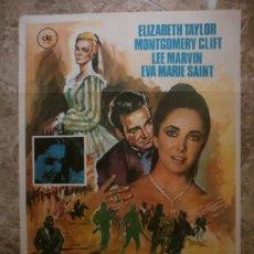 Cine: EL ARBOL DE LA VIDA. ELIZABETH TAYLOR, MONTGOMERY CLIFT, LEE MARVIN. AÑO 1974.. Lote 32464013