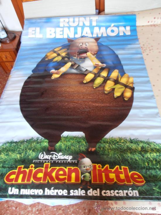 CHICKEN LITTLE¡¡¡¡OJO!!!! CARTEL GIGANTE DE TELA/LONA/PLASTICO DE 170X120 CM APROX(55) (Cine - Posters y Carteles - Infantil)