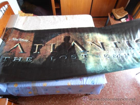 ATLANTIS¡¡¡¡OJO!!!! CARTEL GIGANTE DE TELA/LONA/PLASTICO DE 300X120 CM APROX(66) (Cine - Posters y Carteles - Infantil)