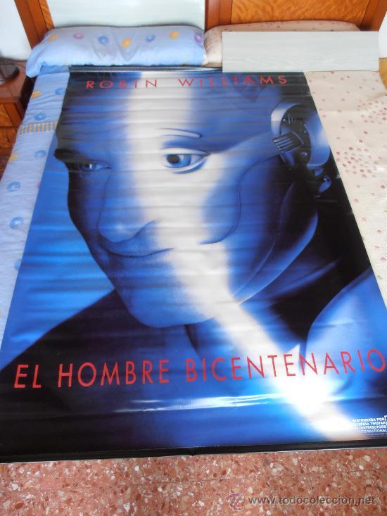 EL HOMBRE BICENTENARIO¡¡¡¡OJO!!!! CARTEL GIGANTE DE TELA/LONA/PLASTICO DE 170X120 CM APROX(70) (Cine - Posters y Carteles - Ciencia Ficción)