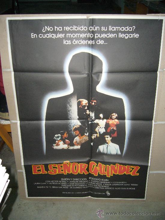 EL SEÑOR GALINDEZ ANTONIO BANDERAS POSTER ORIGINAL 70X100 YY (Cine - Posters y Carteles - Clasico Español)