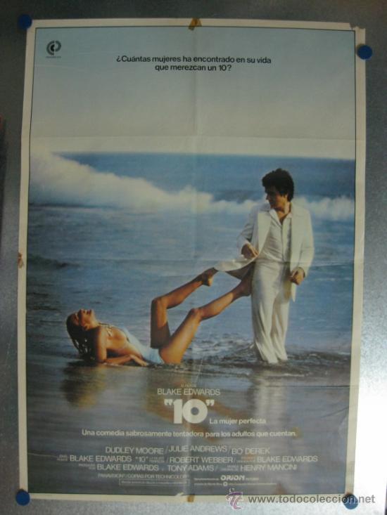10 LA MUJER PERFECTA. DUDLEY MOORE, JULIE ANDREWS. AÑO 1980. (Cine - Posters y Carteles - Comedia)