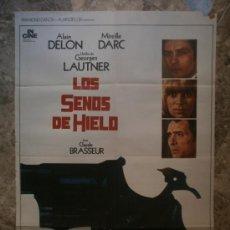 Cine: LOS SENOS DE HIELO. ALAIN DELON, MIREILLE DARC, GEORGES LAUTNER. AÑO 1975.. Lote 32554415
