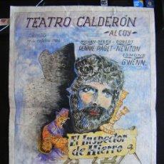 Cine: TEATRO CALDERÓN ALCOY, EL INSPECTOR DE HIERRO, LEWIS MILESTONE, FRED KOHLMAR, CABALLERO, 1954.. Lote 32559764