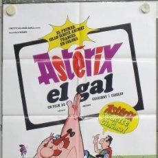 Cine: PE03 ASTERIX EL GALO / GLADIADOR UDERZO GOSCINNY DIBUJOS ANIMADOS POSTER ESPAÑOL 63X86 CATALAN. Lote 206819693