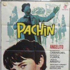 Cine: PE06 PACHIN ANGELITO ROBERTO CAMARDIEL MAC POSTER ORIGINAL 70X100 ESTRENO . Lote 32572544