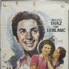 Cine: PE19 EL PESCADOR DE COPLAS ANTONIO MOLINA TONY LEBLANC MARUJITA DIAZ POSTER ORIGINAL 70X100. Lote 139960905