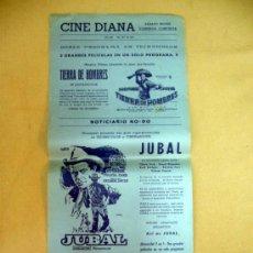 Cine: CARTEL DE CINE, TIERRA DE HOMBRES, JUBAL, 43 X 21 CM, CINE DIANA. Lote 32632531