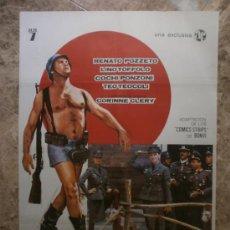 Cine: STURMTRUPPEN. RENATO POZZETO, LINO TOFFOLO, COCHI PONZONI. AÑO 1977.. Lote 32620131