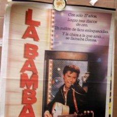 Cine: LA BAMBA, CARTEL DE CINE ORIGINAL, MEDIDAS APROXIMADAS DE ESTE 95 X 67 CM, CON BUENA CONSERVACION C. Lote 32621986