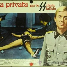 Cine: XD55D CASA PRIVADA PARA LAS SS BRUNO MATTEI SEXPLOITATION BILLAR POSTER ORIGINAL ITALIANO 47X68. Lote 32625423