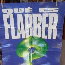 Cine: ¿QUÉ ES FLABBER?, CARTEL DE CINE ORIGINAL 70X100CM CON ALGUN DEFECTO () A 1€ (99). Lote 32640197