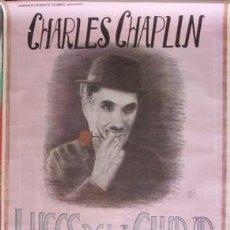 Cine: CHARLES CHAPLIN - LUCES DE LA CIUDAD, CARTEL DE CINE ORIGINAL, MEDIDAS APROXIMADAS DE ESTE 95 X 67. Lote 32632574