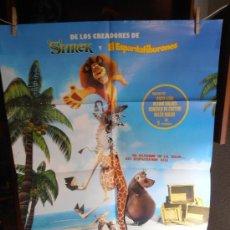 Cine: MADAGASCAR, CARTEL DE CINE ORIGINAL 70X100 APROX (97). Lote 32659249