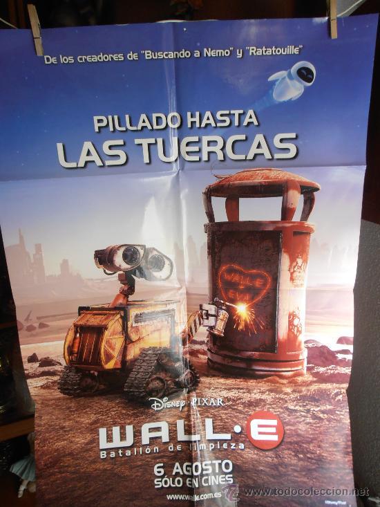 WALLE, CARTEL DE CINE ORIGINAL 70X100 APROX (97) (Cine - Posters y Carteles - Infantil)