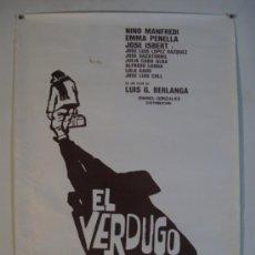 Cinema: CARTEL DE LA PELICULA- EL VERDUGO - DE BERLANGA.- 48 X 67 CMS.. Lote 32844147