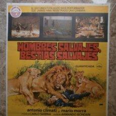 Cine: HOMBRES SALVAJES, BESTIAS SALVAJES. AÑO 1978.. Lote 32656818