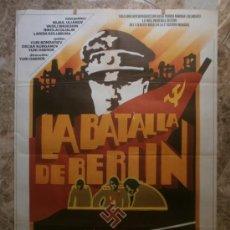 Cinema: LA BATALLA DE BERLIN. MIJAIL ULIANOV, VASILI SHUKSHIN, NIKOLAI OLIALIN. AÑO 1978.. Lote 32696419