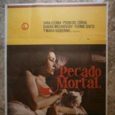 Cine: PECADO MORTAL. SARA LEZANA, PEDRO DEL CORRAL. AÑO 1977.. Lote 32707278