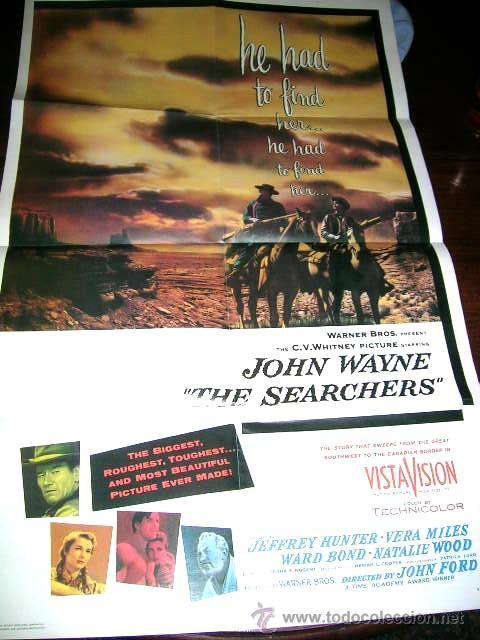 JOHN WAYNE.CARTEL PLEGABLE(FORMATO 8 FOLIOS) DE LA COLECCIÓN FASCICULOS..EDC.P.AGOSTINI.ENVIO PAGADO (Cine - Posters y Carteles - Westerns)