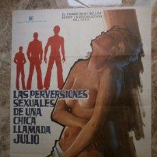 Cine: LAS PERVERSIONES SEXUALES DE UNA CHICA LLAMADA JULIO. SILVIA DIONISIO, ANNA MOFFO. AÑO 1977. Lote 195370762