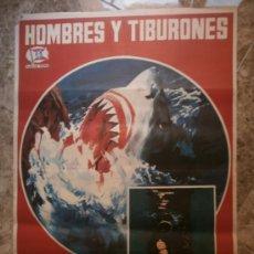 Cine: HOMBRES Y TIBURONES. AÑO 1976.. Lote 32729670