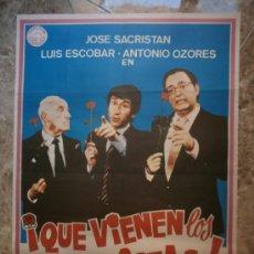 Cine: ¡ QUE VIENEN LOS SOCIALISTAS ! JOSE SACRISTAN, LUIS ESCOBAR, ANTONIO OZORES. AÑO 1982.. Lote 103704467