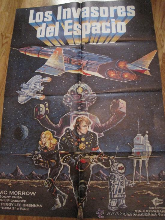 CARTEL DE CINE-LOS INVASORES DEL ESPACIO-KINJI KUKASU-1978-CIENCIA FICCION-96X67 CTMS-POSTER (Cine - Posters y Carteles - Ciencia Ficción)