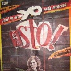 Cine: CARTEL DE CINE-¿QUE HE HECHO YO PARA MERECER ESTO?-ALMODOVAR-1984-96X67-POSTER. Lote 32768759