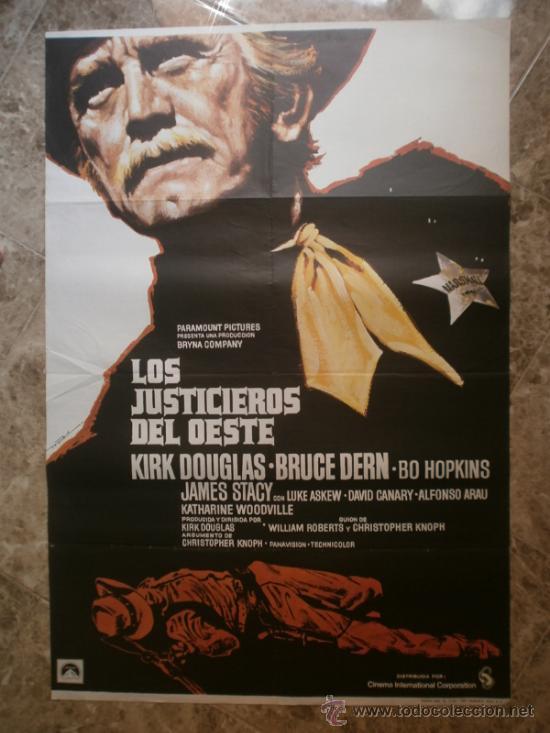 LOS JUSTICIEROS DEL OESTE. KIRK DOUGLAS, BRUCE DERN. AÑO 1975. (Cine - Posters y Carteles - Westerns)
