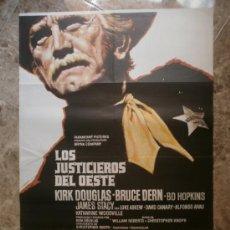 Cine: LOS JUSTICIEROS DEL OESTE. KIRK DOUGLAS, BRUCE DERN. AÑO 1975.. Lote 32790818