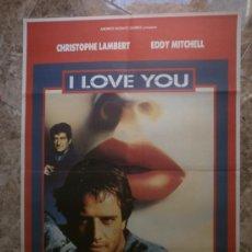 Cine: I LOVE YOU. CHRISTOPHE LAMBERT, EDDY MITCHELL. . Lote 32822169