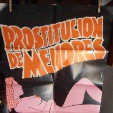 Cine: PROSTITUCION DE MENORES, CARTEL DE CINE ORIGINAL 70X100 APROX (90). Lote 32824734