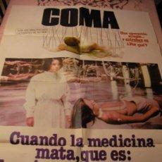 Cine: ANTIGUO CARTEL ORIGINAL DE PELICULA - COMA - GENEVIEVE BUJOLD Y MICHAEL DOUGLAS. Lote 32833678