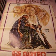 Cine: ANTIGUO CARTEL ORIGINAL DE PELICULA - LOS CUATRO DEL APOCALIPSIS - FABIO TESTI. Lote 32833935