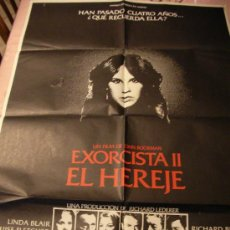 Cine: ANTIGUO CARTEL ORIGINAL DE PELICULA - EXORCISTA II, EL HEREJE - KITTY WINN Y PAUL HENREID Y OTROS. Lote 32834332