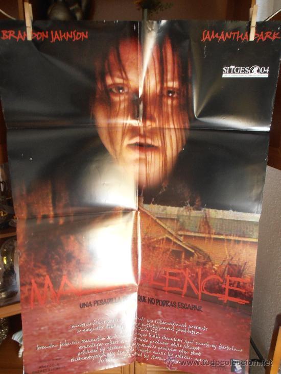 MALEVOLENCE, CARTEL DE CINE ORIGINAL 70X100 APROX (90) (Cine - Posters y Carteles - Terror)