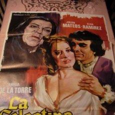 Cine: ANTIGUO CARTEL ORIGINAL DE PELICULA - LA CELESTINA - JULIAN MATEOS, ELISA RAMIREZ Y AMELIA DE LA TOR. Lote 32876516