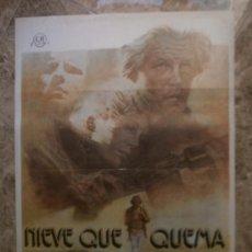 Cine: NIEVE QUE QUEMA. NICK NOLTE, TUESDAY WELD, MICHAEL MORIARTY. AÑO 1977.. Lote 32845631