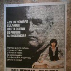 Cine: AUSENCIA DE MALICIA. PAUL NEWMAN, SALLY FIELD. AÑO 1981.. Lote 32911341