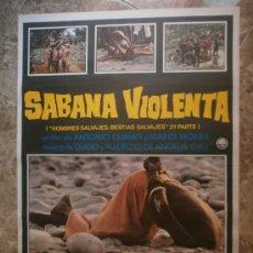 Cine: SABANA VIOLENTA. ( HOMBRES SALVAJES, BESTIAS SALVAJES 2ª PARTE ). AÑO 1979.. Lote 89938270