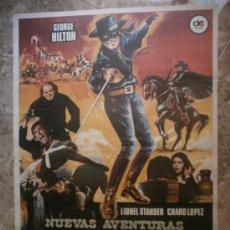 Cine: NUEVAS AVENTURAS DEL ZORRO. GEORGE HILTON, LIONEL STANDER, CHARO LOPEZ. AÑO 1976.. Lote 38974096