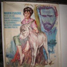 Cine: PLATERO Y YO - CARTEL ORIGINAL DE LA PELICULA -AÑO 1965 - 70 X 100 CMS.. Lote 52470542