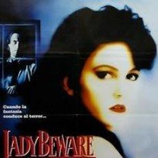 Cine: CARTEL LADY BEWARE. C.1980. 70 X 100 CM. ESPAÑA. Lote 33012945