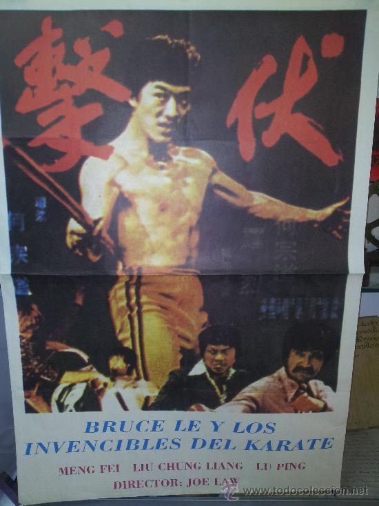 BRUCE LEE Y LOS INVENCIBLES DEL KARATE (Cine- Posters y Carteles - Drama)