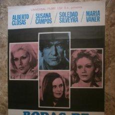Cine: BODAS DE CRISTAL. ALBERTO CLOSAS, SUSANA CAMPOS, SOLEDAD SILVEYRA. AÑO 1976.. Lote 33047126