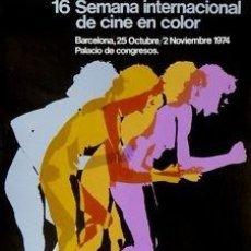 Cine: CARTEL 16 SEMANA INTERNACIONAL CINE.1974.ANADON / CROS. Lote 33064146