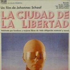 Cine: CARTEL CINE.LA CIUDAD DE LA LIBERTAD.OSCARSSON / FENDEL. Lote 33064542