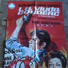 Cine: LA VIUDA COUDERC. POSTER ESTRENO 100X70. JANO. ALAIN DELON, SIMONE SIGNORET. Lote 35262950